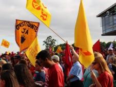 CPERS participa de ato em defesa da Petrobras e dos direitos dos trabalhadores
